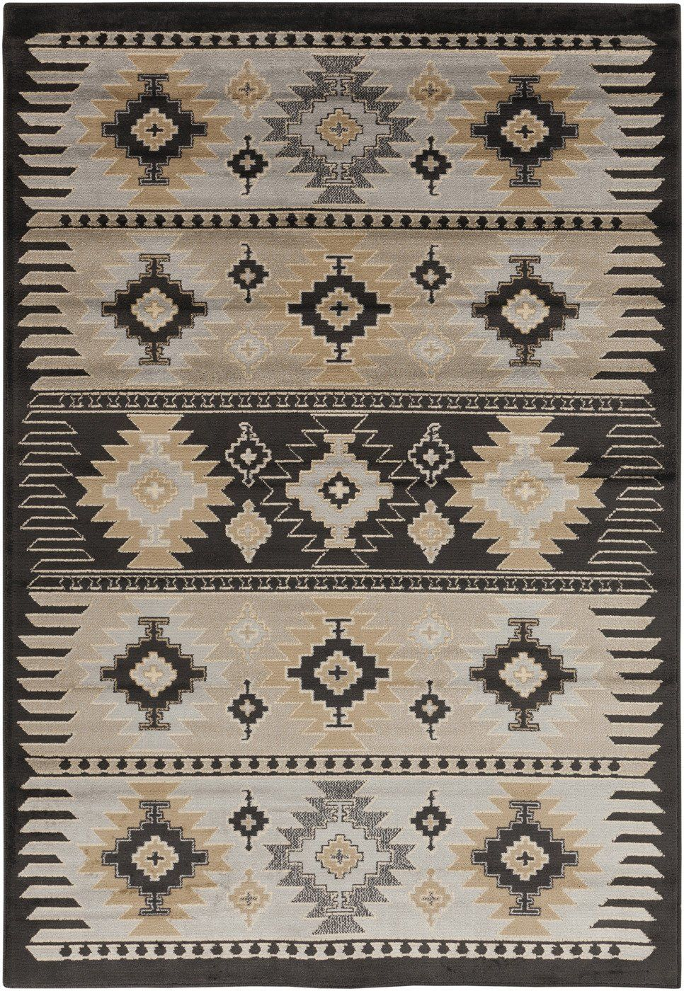 Surya Blowout Sale Up To 70 Off Par1046 23 Paramount Southwest Area Rug Gray Black Only Only
