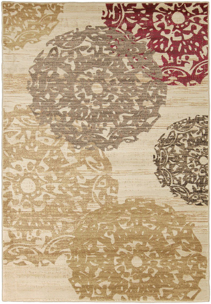 Riley Medallion And Damasks Area Rug Yellow