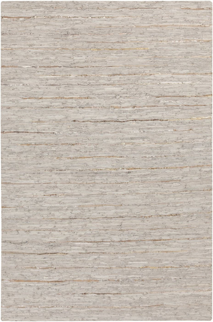 Black & Greys, Greens, Rugs, Tan & Neutrals, Yellow & Golds - Surya ATE8002-23 Anthracite Hides and Leather Area Rug Neutral | 764262432466 | Only $48.00. Buy today at http://www.contemporaryfurniturewarehouse.com