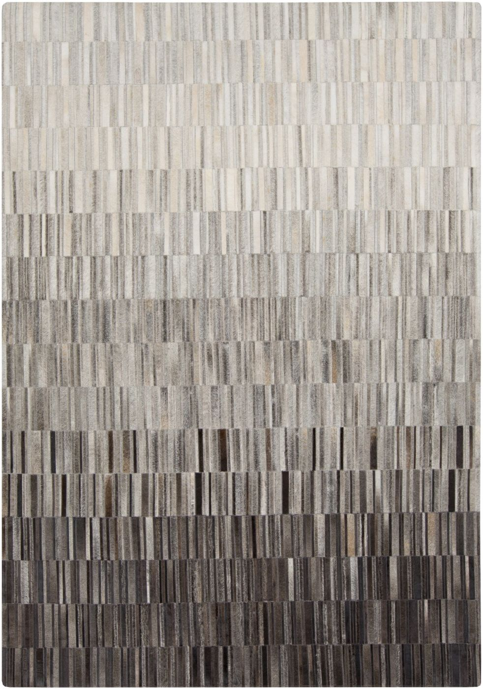 Surya Outback Hides And Leather Area Rug Gray Neutral At