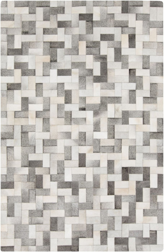 Outback Hides And Leather Area Rug Gray Neutral