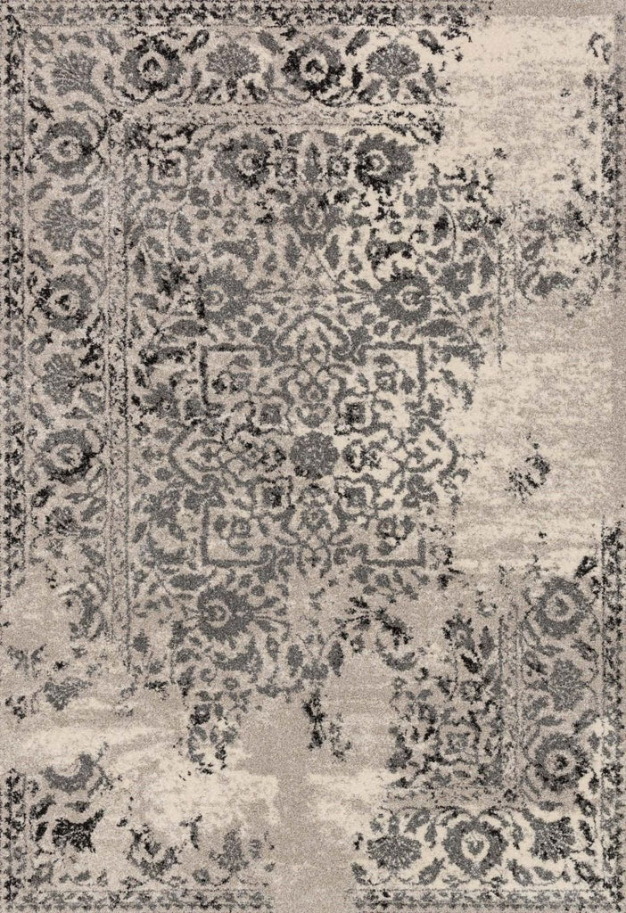 Black & Greys, Ivory & Whites, Rugs, Transitional - Loloi Rugs EMOREB-01IVCC2577 Loloi Emory Ivory / Charcoal Area Rug | 885369268908 | Only $149.00. Buy today at http://www.contemporaryfurniturewarehouse.com