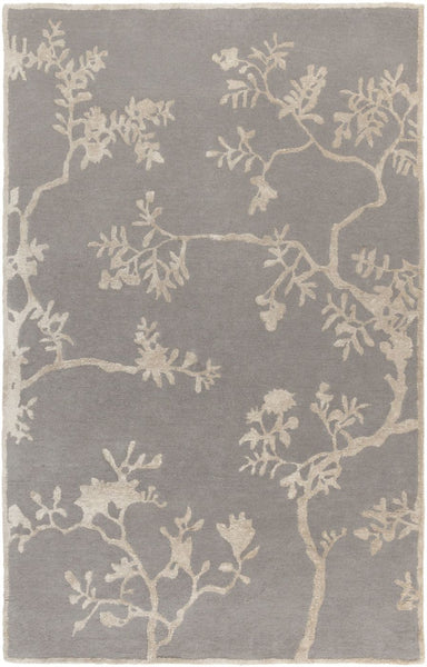 Manor Floral And Paisley Area Rug Gray