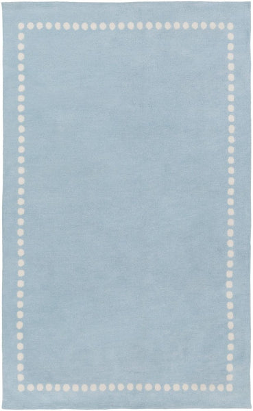 Blues, Childrens, Ivory & Whites, Rugs - Surya ABI9075-23 Abigail Solids and Borders Area Rug Blue | 888473401407 | Only $54.60. Buy today at http://www.contemporaryfurniturewarehouse.com