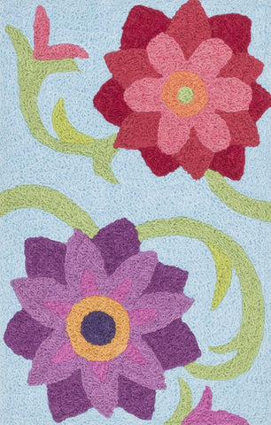 Loloi Angelou Lt. Blue / Berry Area Rug