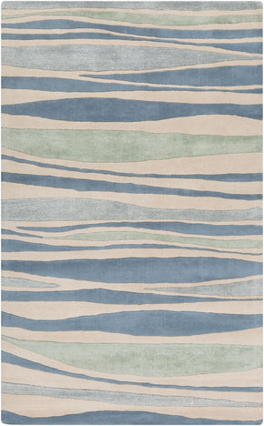 Lighthouse Coastal Area Rug Blue Green