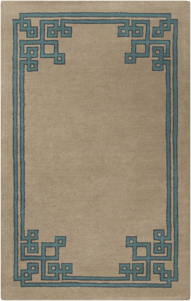 Blues, Contemporary, Greens, Rugs, Tan & Neutrals - Surya CAV4010-811 Calaveras Solids and Borders Area Rug Neutral, Blue | 764262662115 | Only $1566.60. Buy today at http://www.contemporaryfurniturewarehouse.com