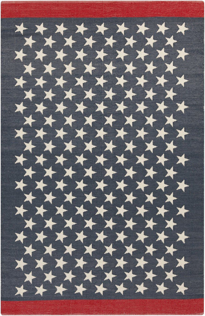 Us Flag Outdoor Rug Blue Red White