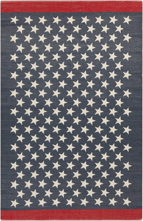 Us Flag Outdoor Rug Blue / Red White