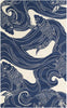 Rain Coastal Area Rug Blue