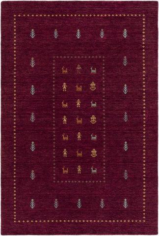Gava Classic Area Rug Red Blue