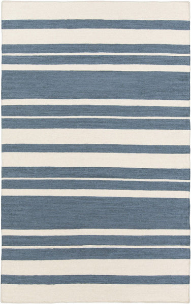 Frontier Stripes Area Rug Blue