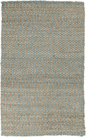 Reeds Natural Fibers Area Rug Blue
