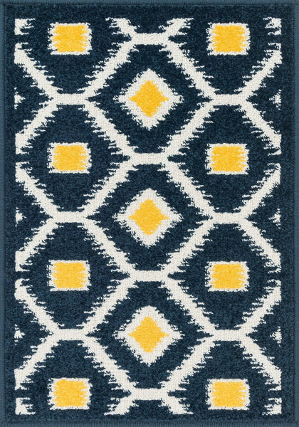 Loloi Terrace Navy / Lemon Area Rug