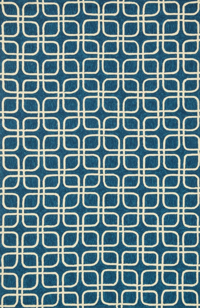 Blues, Indoor/Outdoor, Ivory & Whites, Rugs - Loloi Rugs VENIVB-11BBIV2339 Loloi Venice Beach Blue / Ivory Area Rug | 885369155925 | Only $79.00. Buy today at http://www.contemporaryfurniturewarehouse.com