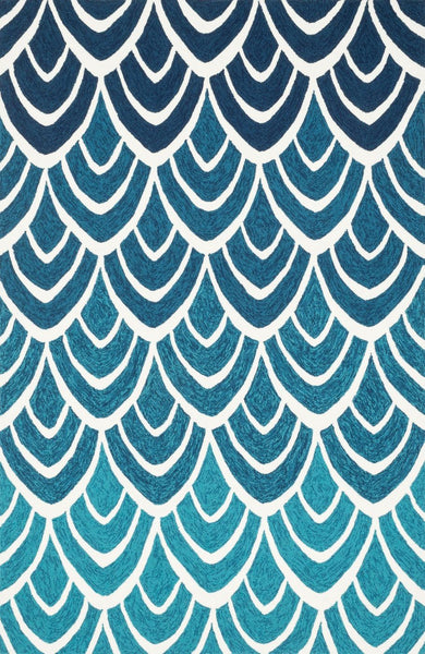 Blues, Indoor/Outdoor, Multi, Rugs - Loloi Rugs VENIVB-20BBML2339 Loloi Venice Beach Blue / Multi Area Rug | 885369231278 | Only $79.00. Buy today at http://www.contemporaryfurniturewarehouse.com