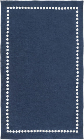 Abigail Solids And Borders Area Rug Blue