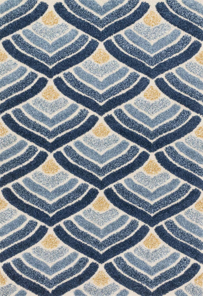 Loloi Enchant Ivory / Blue Area Rug