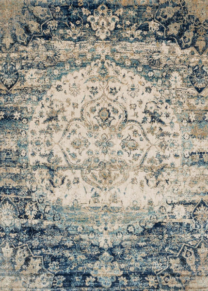 Blues, Ivory & Whites, Rugs, Transitional - Loloi Rugs ANASAF-06BBIV2740 Loloi Anastasia Blue / Ivory Area Rug | 885369251269 | Only $139.00. Buy today at http://www.contemporaryfurniturewarehouse.com