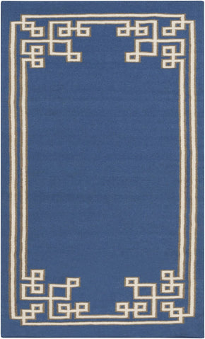 Alameda Geometric Area Rug Blue