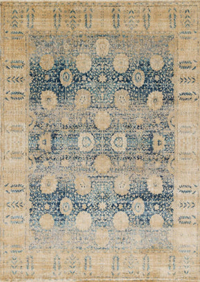 Blues, Rugs, Transitional, Yellow & Golds - Loloi Rugs ANASAF-09BBGO2740 Loloi Anastasia Blue / Gold Area Rug | 885369251306 | Only $139.00. Buy today at http://www.contemporaryfurniturewarehouse.com