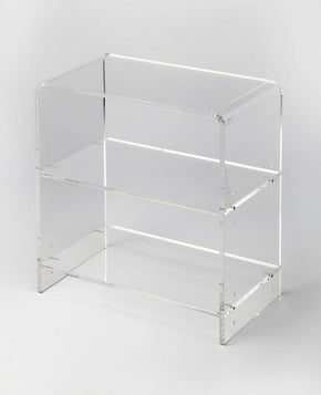 Crystal Clear Modern Rectangular Bookcase
