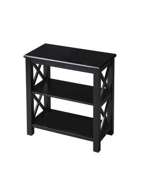 Vance Transitional Rectangular Bookcase Black