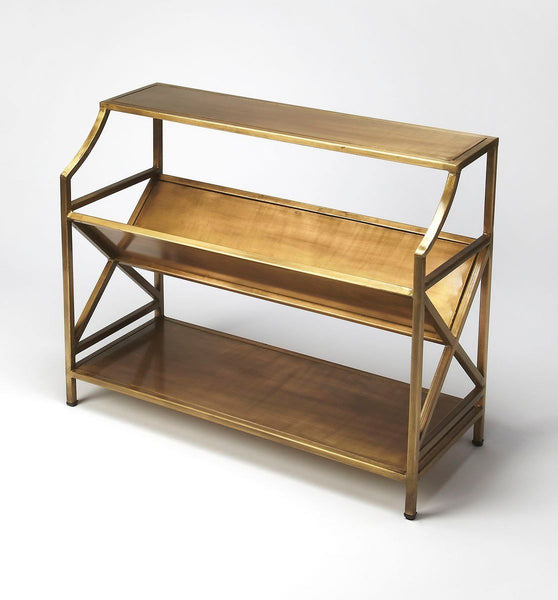 Bookcases - Butler Furniture BUT-6112330 Keats Modern Rectangular Librarie Bookcase Gold | 797379033462 | Only $629.00. Buy today at http://www.contemporaryfurniturewarehouse.com