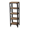 Industrial Shelves Washed Pine,restoration Black Bookcase