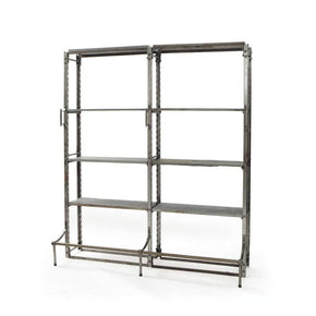 Double Warehouse Shelving Bookcase