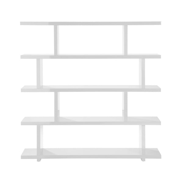 Miri Shelf Large White High Gloss Lacquer Bookcase
