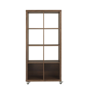 8 Cube Unit In American  Walnut - 64 X 31.5 Bookcase