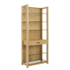 Ballard 5 Shelf Unit In Oak With Clear Glass Bookcase