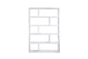 Bookcases - TemaHome 9000.317569 Dublin High Pure White Bookcase | 5603449317569 | Only $492.00. Buy today at http://www.contemporaryfurniturewarehouse.com
