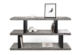 Bookcases - TemaHome 9000.320224 Step Low Faux Concrete / Pure Black | 5603449273254 | Only $434.00. Buy today at http://www.contemporaryfurniturewarehouse.com