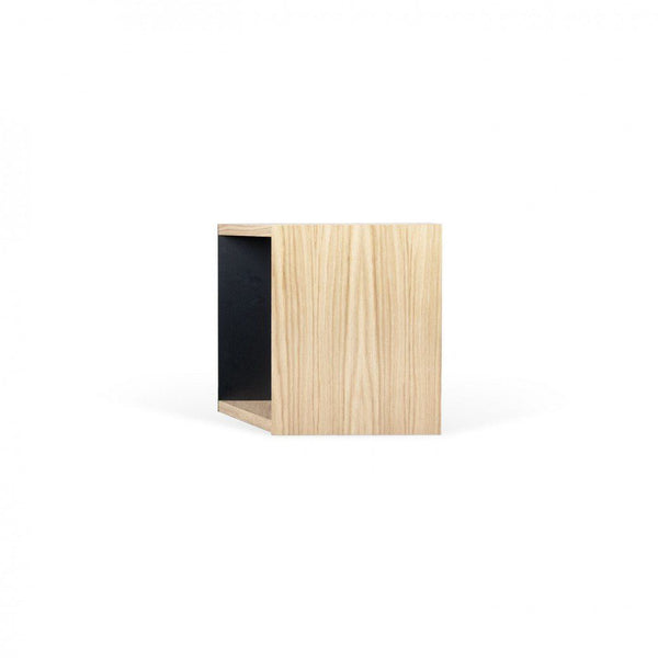 One Module Oak / Pure Black Bookcase