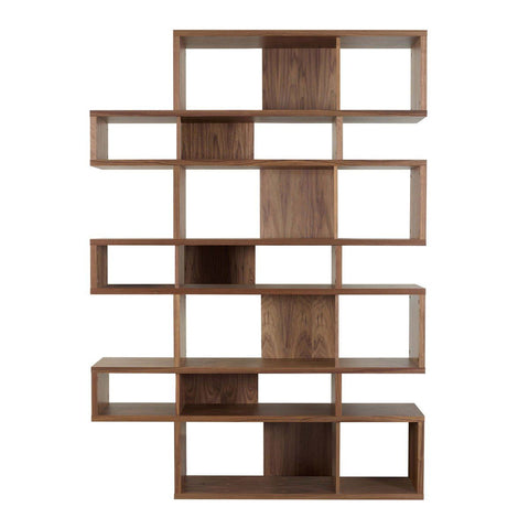 London Composition 2010-003 Walnut Frame Backs Bookcase