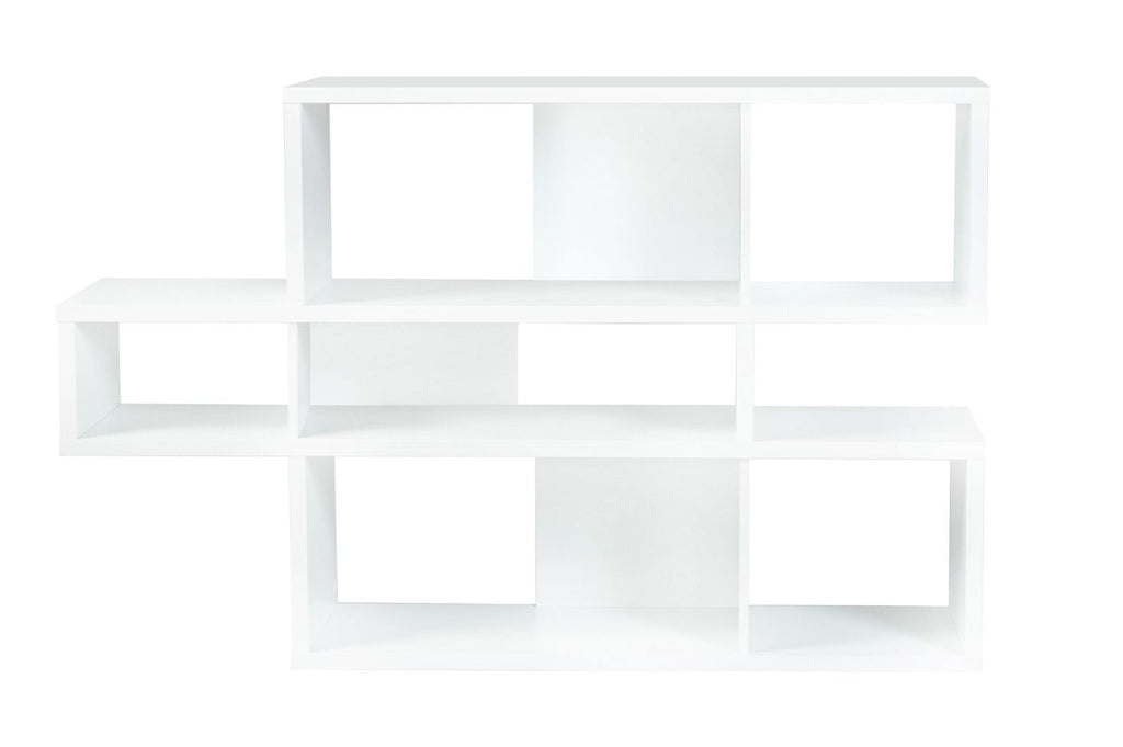 London Composition 2010-001 Pure White Frame Backs Bookcase