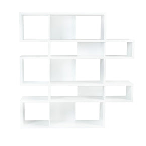 London Composition 2010-002 Pure White Frame Backs Bookcase