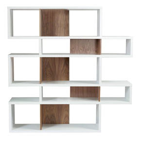Bookcases - TemaHome 9500.314919 London Composition 2010-002 Pure White Frame, Walnut Backs | 5603449314919 | Only $1064.00. Buy today at http://www.contemporaryfurniturewarehouse.com