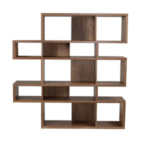 London Composition 2010-002 Walnut Frame Backs Bookcase