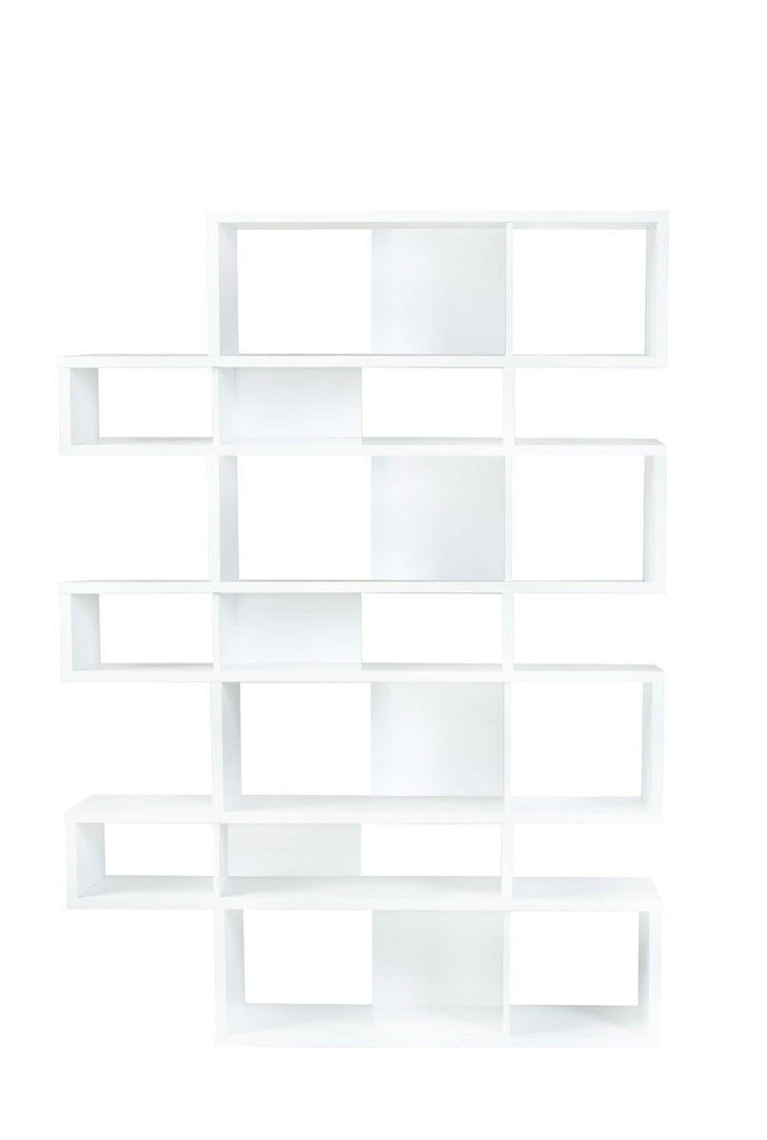 London Composition 2010-003 Pure White Frame Backs Bookcase