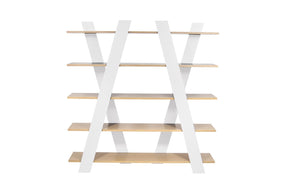 Wind Shelving Unit Oak / White Bookcase