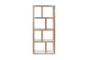 Berlin 4 Levels 70 Cm Pure White / Plywood Bookcase