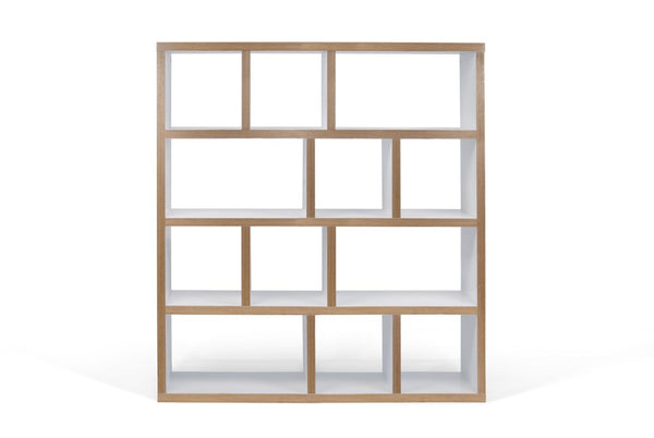 Bookcases - TemaHome 9500.318122 Berlin 4 Levels 150 Cm Pure White / Plywood Bookcase | 5603449318122 | Only $572.00. Buy today at http://www.contemporaryfurniturewarehouse.com