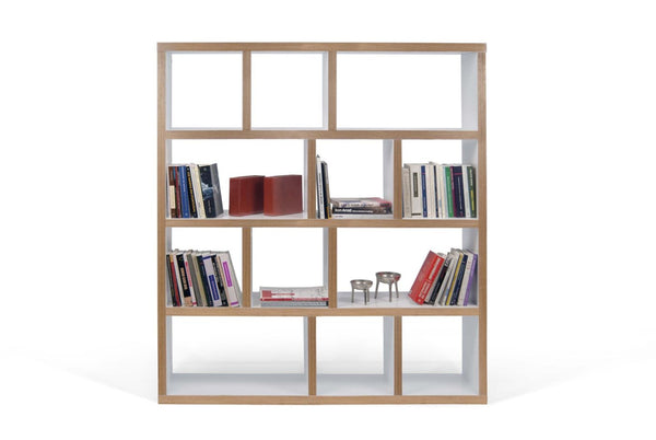 Buy Temahome 9500 318122 Berlin 4 Levels 150 Cm Pure White Plywood Bookcase At Contemporary Furniture Warehouse
