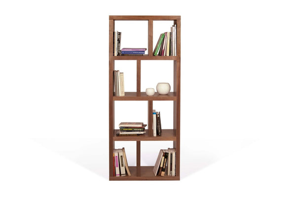 Berlin 4 Levels 70 Cm Walnut Bookcase