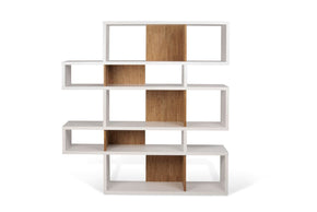 London Composition 2010-002 Pure White Frame Cork Backs Bookcase