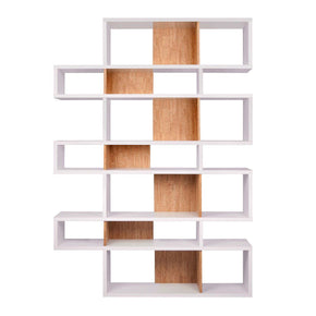 London Composition 2010-003 Pure White Frame Cork Backs Bookcase