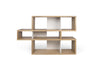 London Composition 2010-001 Oak Frame, Pure White Backs Bookcase